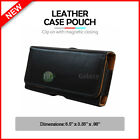 Genuine Leather Pouch Belt Phone Case for Android LG X Venture / Phoenix Plus