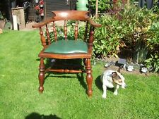 Victorian oak smokers bow chair