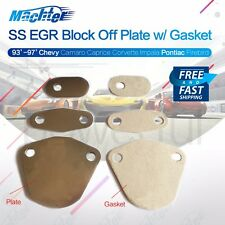 For Pontiac Firebird EGR Block Off Plates W Gaskets Camaro Corvette C4 93-97