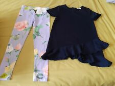 Ted Baker 2 Piece Top And Leggings Aged 7 - 8 Yrs Girls Worn Once suit