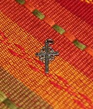 Sterling Silver Jewelry Cross Charm Vintage 1990's Christ Cross Charm Vintage