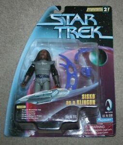 Star Trek DS9 - Warp Factor Series 2 - Sisko as Klingon Figure - Playmates Toys
