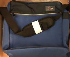 Computer Bag Vera Bradley Baekgaard Flags Nylon Black Blue Messenger