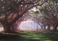Oak Alley Plantation by RC Davis 17 x 23 (Signed )