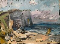 "Original Impressionism Nautical Seascape Oil Painting 18""x24"" Signed on Canvas"