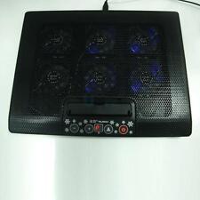 """12""""-17"""" USB Laptop 6 Fan Cooling Cooler Pad Adjustable Stand Anti-Slip LED Black"""