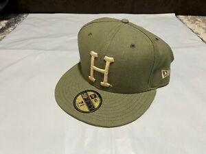 HUF NEW ERA HAT - HEMP vintage rare 7 & 3/4 LIMITED