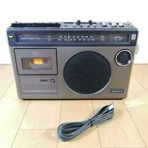 Beautiful goods operation confirmed SONY antique cassette radio cassette player