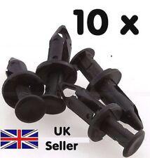 10 x  8mm Door Hole Trim Panel Black Plastic Rivet Pin Clip Fastener for Car