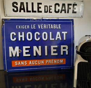"""Plaque émaillée ancienne  """"1910""""  MENIER  43x32cm"""