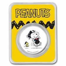 Peanuts® Snoopy & Woodstock Graduation 1 oz Colorized .999 Silver Charlie Brown