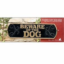 Beware of the Dog Cast Iron Landscape Sign