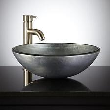Signature Hardware Silver Glass Vessel Sink