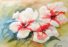 "ORIGINAL Painting Watercolor by Pronkin  flowers 16x12"" painting watercolor"