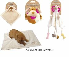 ROSEWOOD NATURAL NIPPERS PUPPY SET SOFT BLANKET / HEAT CUSHION / PLUSH TOY X 2