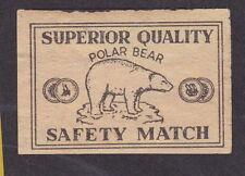 ancienne  étiquette  allumettes Inde BN16834 Ours polaire