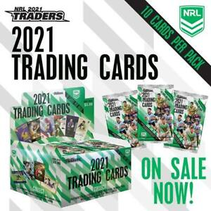 2021 NRL Traders Rugby League TLA Trading Cards Factory Sealed Box 36 Packs