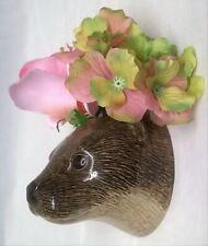 More details for quail ceramic otter wall vase pocket wildlife animal head model ornament figure