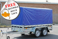 NEW Car trailer MARTZ twin axle 263cm x 125cm 8.8 x 4.2 750kg Blue cover 110 cm