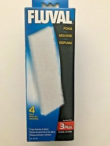 Fluval Hagen 3+ 3 Plus 4 pack Filter Foam A184  A-184