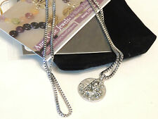 ST CHRISTOPHER MEDALLION-SAFE TRAVEL-NECKLACE-STAINLESS STEEL BOX CHAIN - 50CM