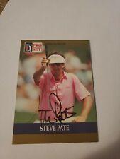 Steve Pate AUTOGRAPHED #8 1990 Pro Set PGA Tour Golf Special Inaugural