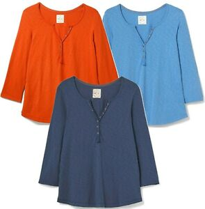 NEW! Casual Soft & Cosy WHITE STUFF Stitch in Time Cotton Jersey Lounge Top 6-22