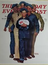 "Norman Rockwell Vintage Poster Print 17"" x 22"" 1941willie gillis package home R"