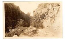 AZ - GLOBE ARIZONA RPPC Postcard DEVIL'S CANYON HIGHWAY TO COOLIDGE DAM