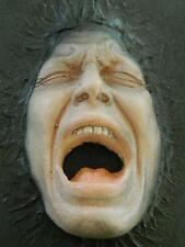HALLOWEEN HORROR MOVIE PROP  3D Screaming Head Wall Art - (Black Death 2)