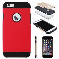 Tough Armor Hybrid Hard Back Case Cover Protector for Apple iPhone SE 5 & 5s iPhone 7 Ruby Red