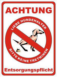 witziges Hunde Toilette Verbots -  Schild  Aluminium  200 x 150 mm