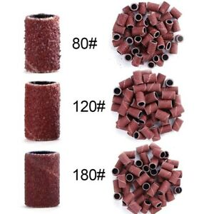 50pcs/100pcs Electric Nail Drill Bit Nail Art Sanding Bands Nail Polish Remover