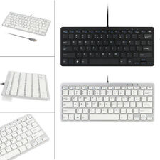 Ultra Slim 78 Key Wired USB Mini PC Keyboard Cute Pad For PC Apple Mac Laptop