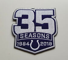 NFL PATCH RICAMATE Indianapolis Colts 35 Years Anniversary grandi 9 x 9,5 cm