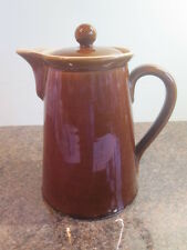 Vintage - Denby Bourne Pottery - Brown Lidded Coffee Pot - 2 Pint