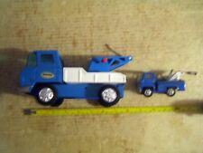 2 Rare Htf Collectable Vintage Pressed Steel Tow Trucks 1 Bandai & 1 Marx