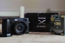 Fujifilm X Series X100T 16.3MP Digital Camera Black w/ filters, hood, 3 battery