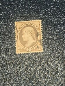 US - 1882 - 10c Brown Thomas Jefferson Banknote Issue Scott# 209 Used -#2459