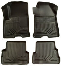 Husky Weatherbeater Floor Liners - Front+Rear - 11-17 Dodge Charger w/ RWD - Blk