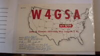 OLD VINTAGE QSL HAM RADIO CARD POSTCARD, LOUISVILLE KENTUCKY 1959