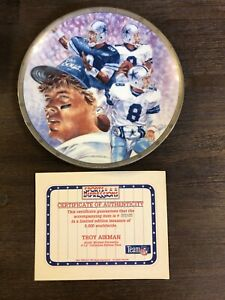 Troy Aikman - Dallas Cowboys Limited Edition Collectors Plate by Sports Impressi
