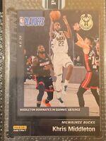 2019-20 Panini Instant NBA PLAYOFFS BLACK KHRIS MIDDLETON Dominates - True 1/1