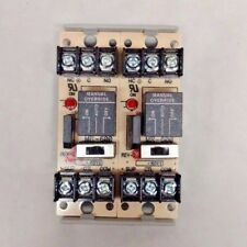 HOA Relay HAND-OFF-AUTO ≡ 10A - 24VAC/VDC MR-601/T MR-600 ≡ Lot of 2 with track