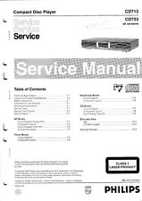 Service Manual-Instructions Pour PHILIPS CD 713, CD 723 10,- CDR 570, CDR