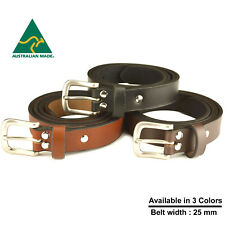 Australian made Genuine Leather Belt 25 mm