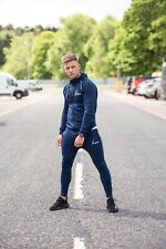 Icon Tracksuit Fitted Navy Gym Fitness Mens Gym Bodybuilding Fashion Size Small.