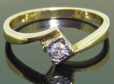 0.05CT DIAMOND SOLITAIRE ENGAGEMENT RING 9CT 9 CARAT YELLOW GOLD SINGLE STONE