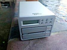 Sans Digital Mobile 2 Bay RAID0 / RAID1 NAS Server w/ LCD FRE SHIPPING
