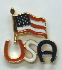 New listing Usa American Flag on Usa Script, Great 4th of July Gift, New
